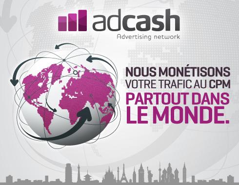 Monétiser avec Adcash