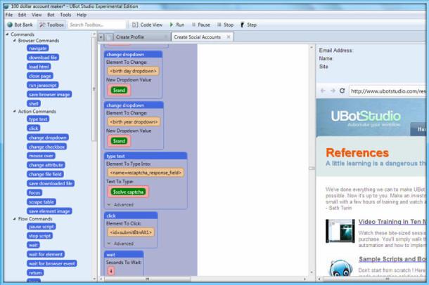 Utilisation d'Ubot Studio