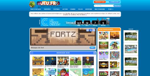 Site de jeux gratuits : jeu.fr