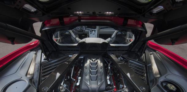 moteur de la Corvette C8 de Chevrolet