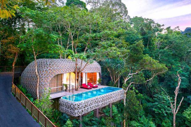 Des cabanes dans les arbres en Thaïlande